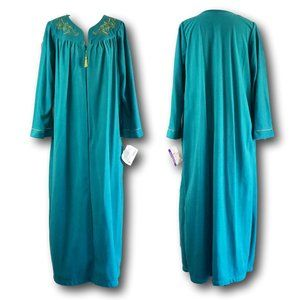 Vintage Plus Size Flannel Robe House Dress Gown